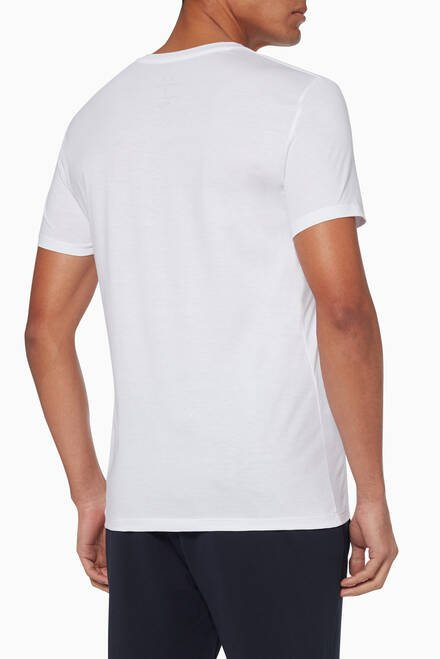 hover state of Pima Cotton V-Neck T-Shirt
