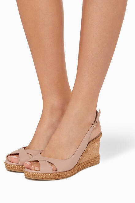 hover state of Amely 80 Nappa Slingback Wedges