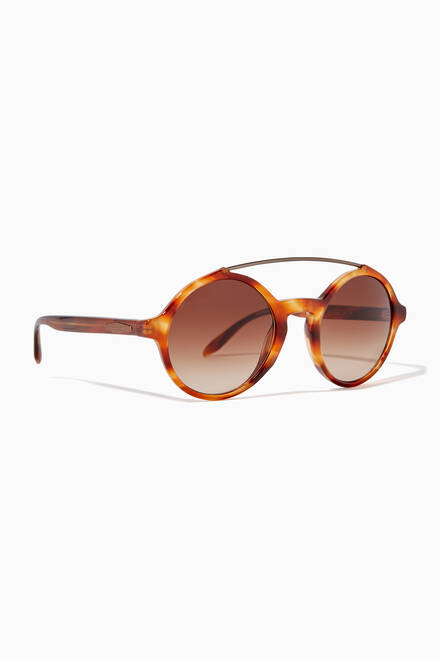 hover state of Round Acetate Sunglasses