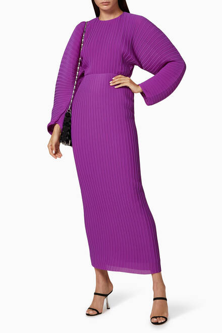 hover state of Mirabelle Pleated Midaxi Dress