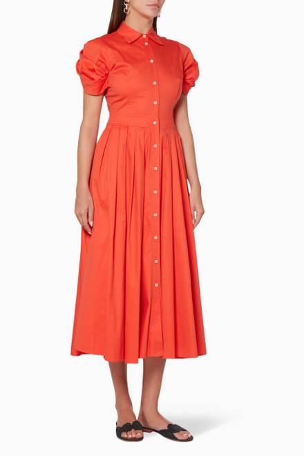 ae883231f تسوق تنورة غارنيت متوسطة الطول مخططة أبيض وأحمر Alexis وردي للنساء ...