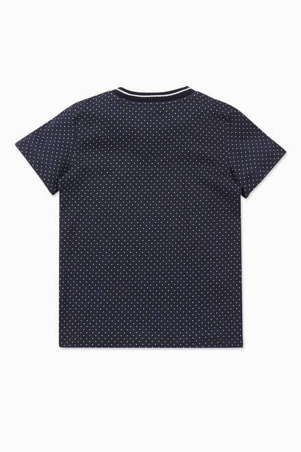 hover state of Polka Dot Graphic Logo Print T-Shirt
