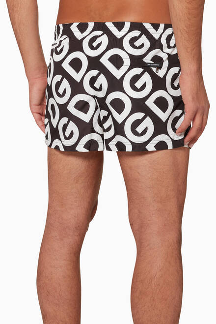 hover state of Logomania Print Swim Shorts