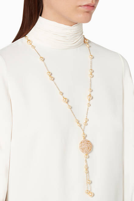hover state of Pearl Tassel Necklace