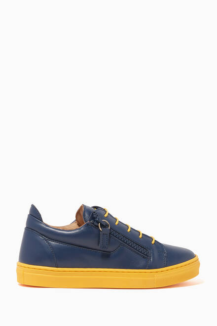 hover state of Frankie Leather Low-Top Sneakers