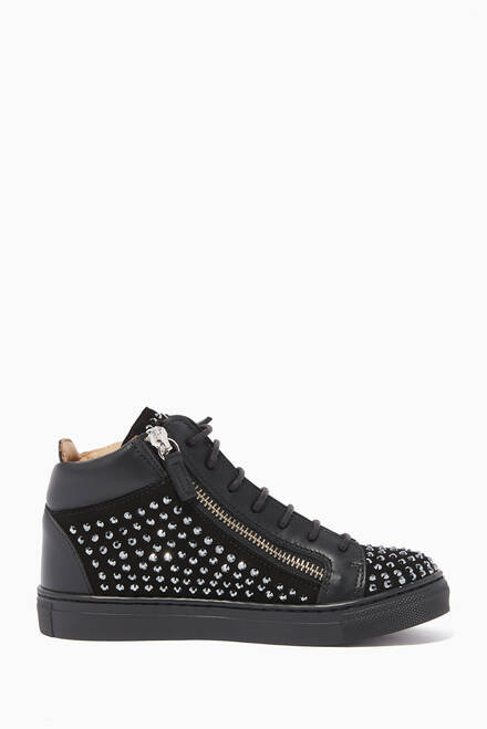 hover state of Kriss Crystal Embellished Sneakers