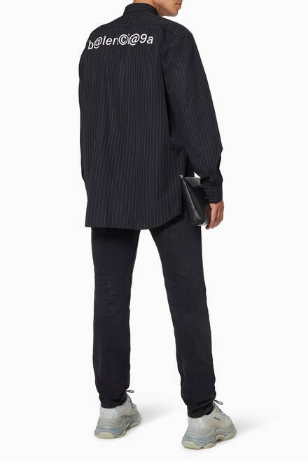 hover state of Symbolic Pinstripe Cotton-Poplin Shirt