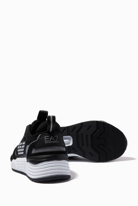 hover state of EA7 Ace Runner Sneakers in Mesh & Suede