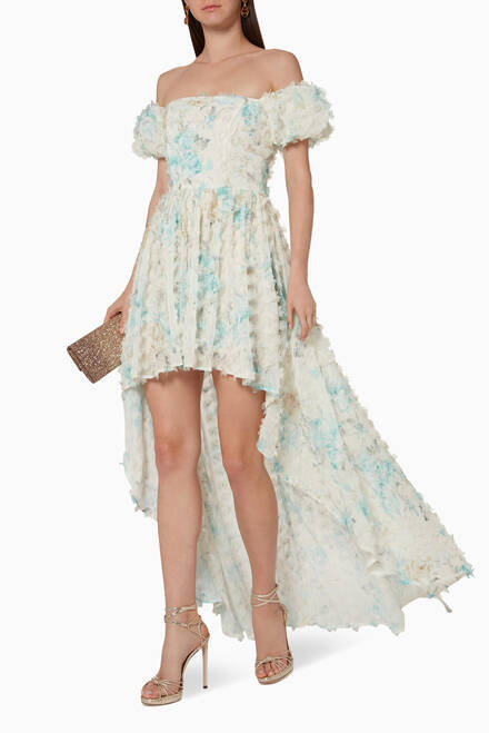 hover state of Martha Floral Applique Dress