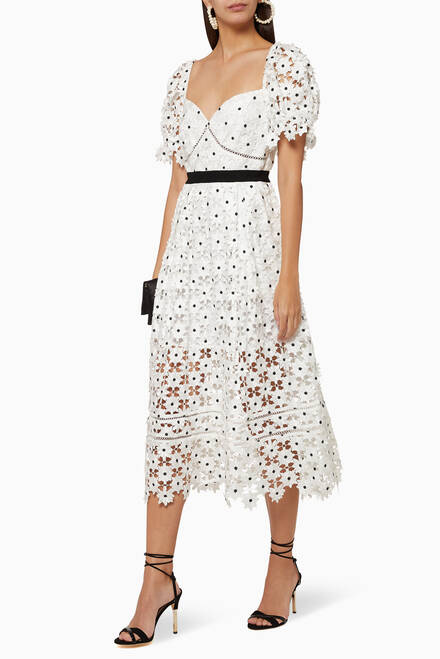 hover state of Daisy Lace Midi Dress