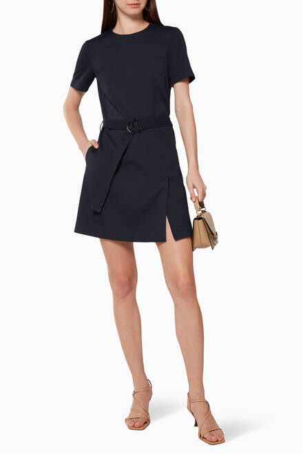 hover state of Canossa Mini Dress with Belt