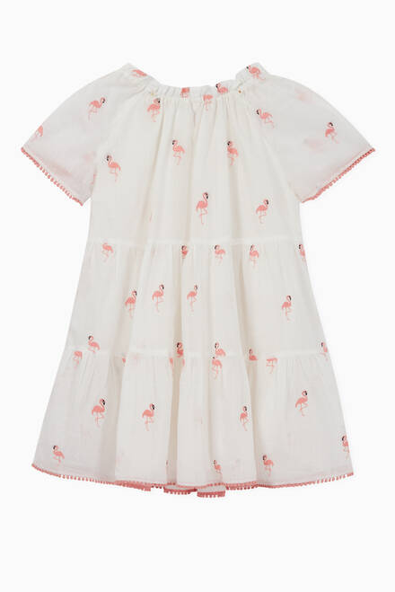hover state of Bells Flamingo Dress