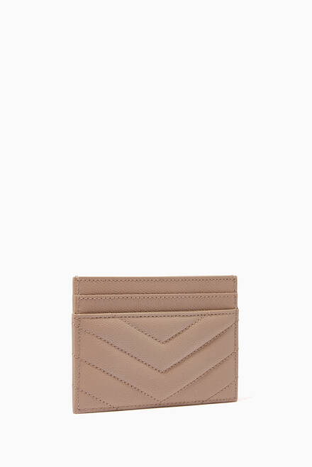 hover state of Monogram Card Case in Grain de Poudre Embossed Leather