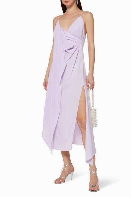 hover state of Hermatage Draped Dress