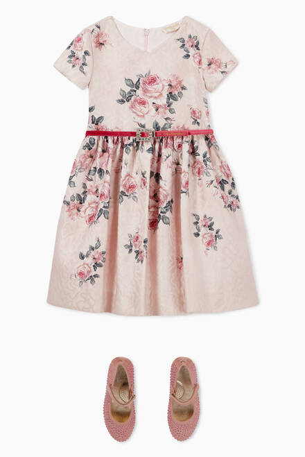 hover state of Belted Floral Dress
