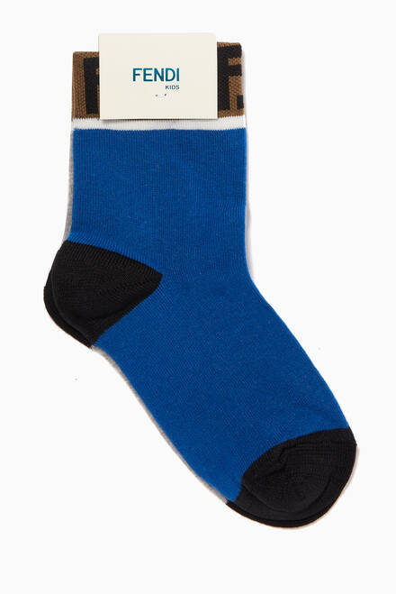 hover state of FF Band Cotton Socks, Set of 2