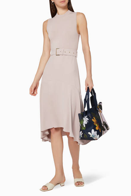 hover state of Corvala Dip Hem Midi Dress