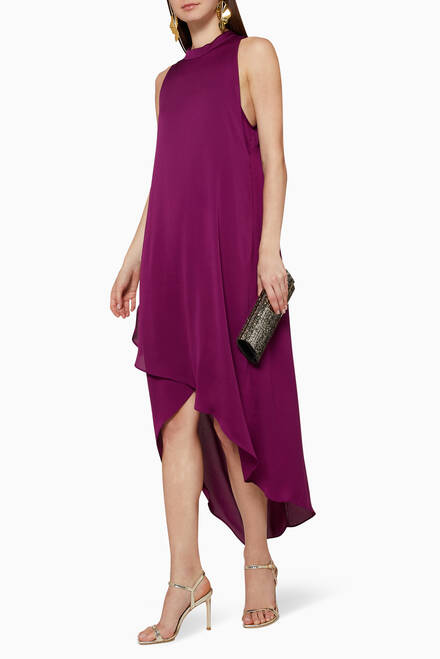 hover state of High Neck Trapeze Dress
