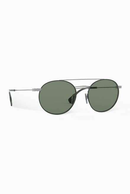 hover state of Top Bar Detail Round Frame Sunglasses