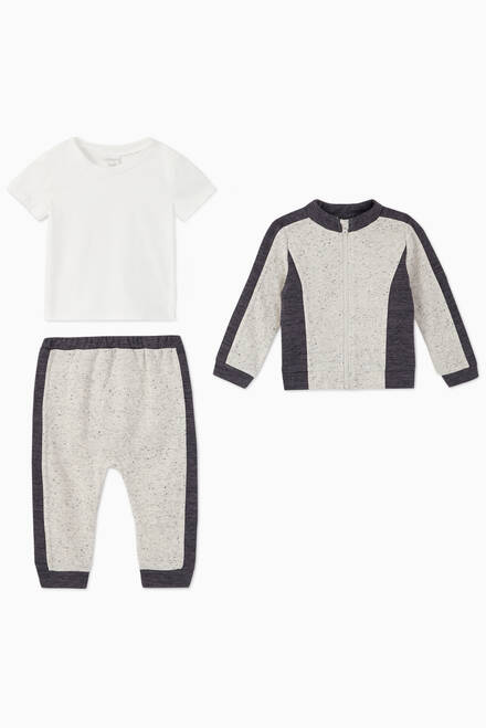 hover state of Colour Blocked Tracksuit & T-Shirt Set