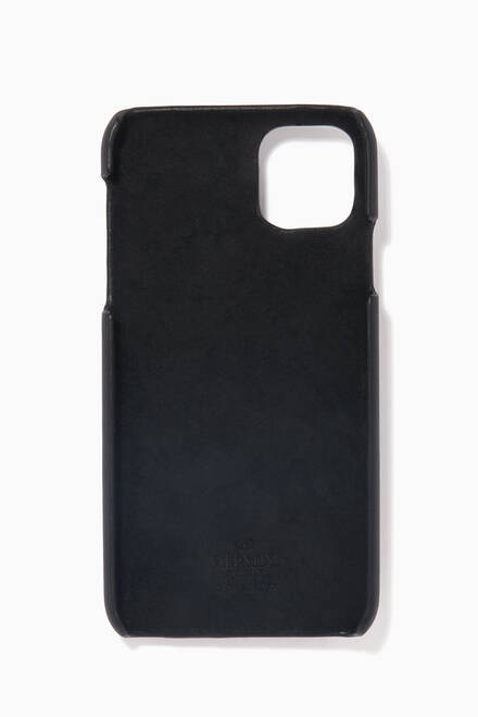 hover state of Valentino Garavani VLTN iPhone 11 Pro Max Case in Leather