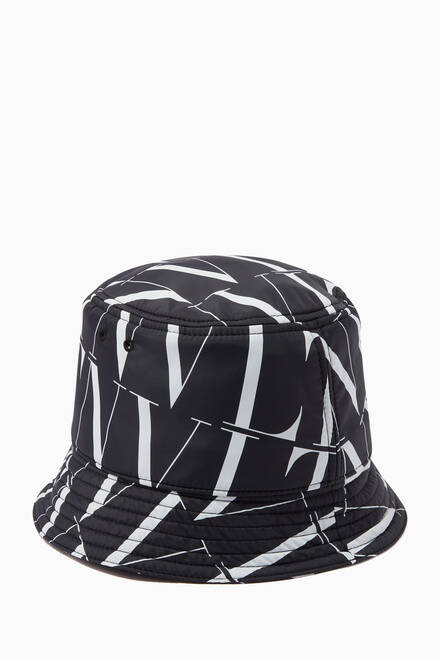 hover state of Valentino Garavani VLTN TIMES Bucket Hat in Nylon