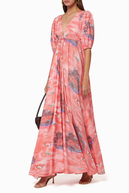 hover state of Amaretti Printed Dress