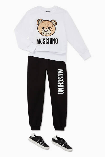 hover state of Sequinned Teddy Bear Jersey Sweatshirt