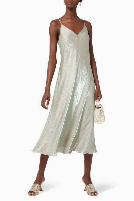 hover state of Iridescent Cami Midi Dress