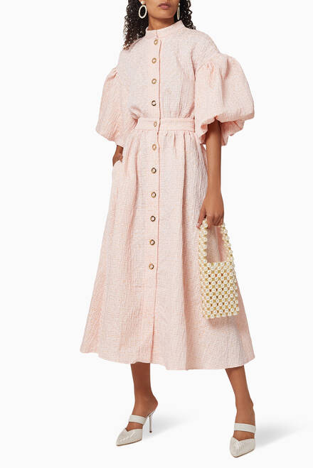 hover state of Puff Sleeve Dress