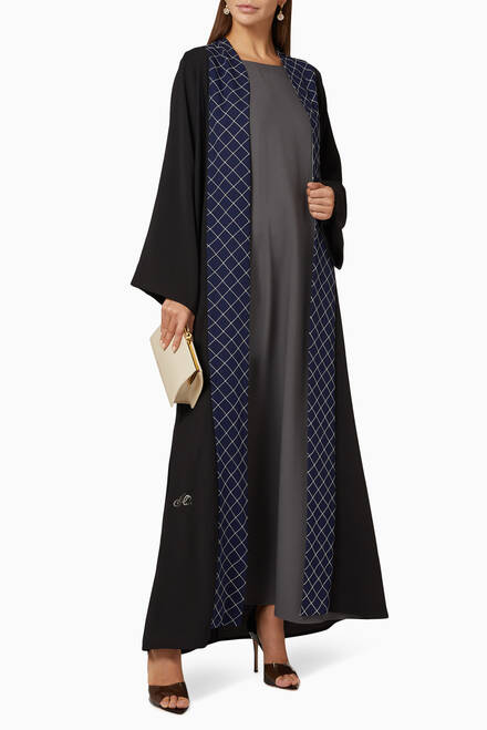 hover state of Embroidered Abaya Set