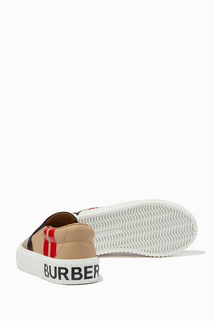 hover state of Slip-on Sneakers in Icon Stripe Leather