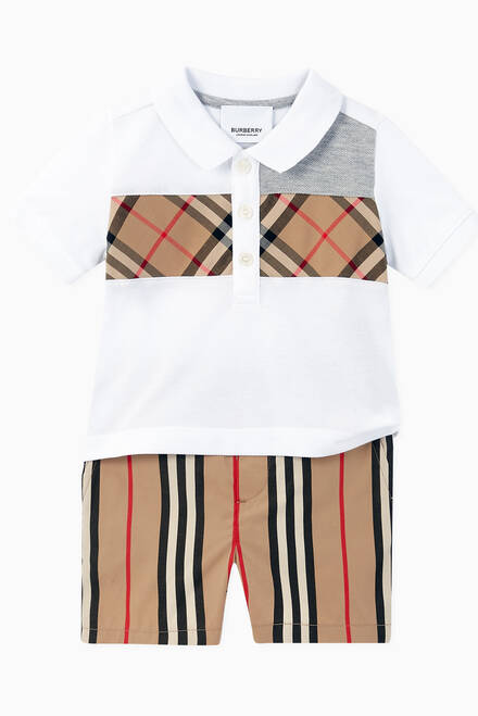 hover state of Icon Stripe Cotton Chino Shorts
