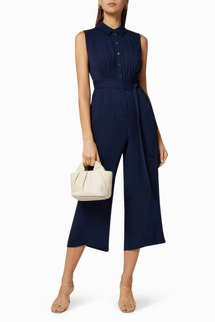 hover state of Zora Smocked Detail Jumpsuit