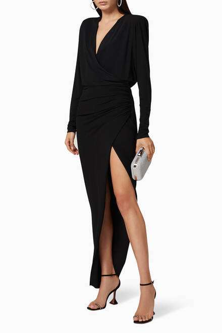 hover state of Stretch Jersey Long Dress