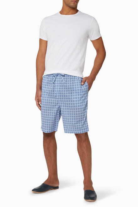 hover state of Ledbury 34 Cotton Batiste Shorts