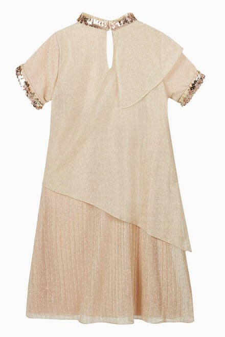hover state of Metallic Embroidered Ruffle Kaftan