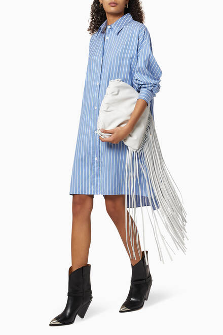hover state of Macali Striped Silk Shirt