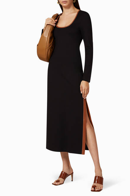 hover state of Joint Ponte Midi Dress