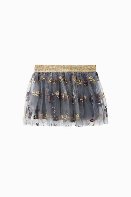 hover state of Nella Embroidered Tulle Skirt