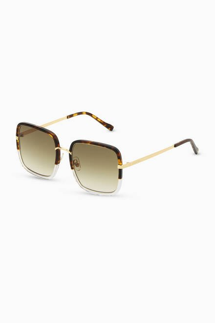 hover state of Clio Oversized Sunglasses in Acetate & Stainless Steel