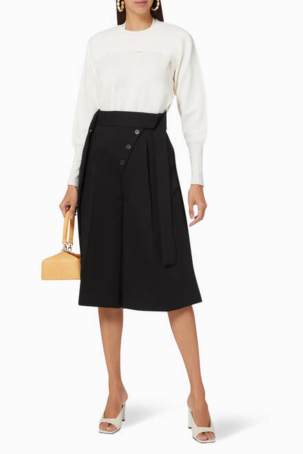 hover state of Matte Satin Culottes