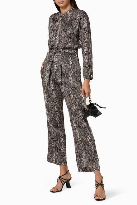 hover state of Ynez Cotton Jumpsuit