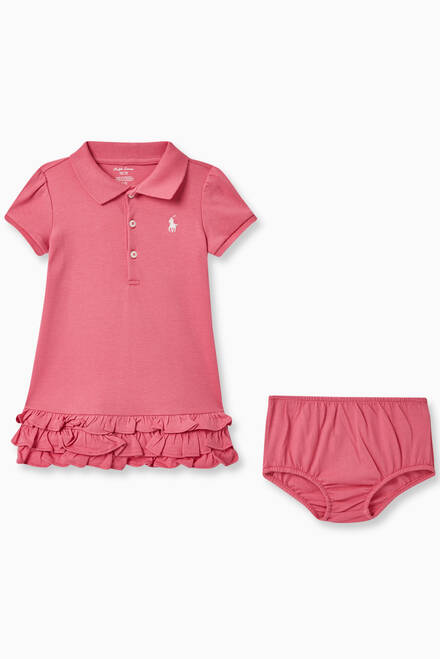 hover state of Ruffled Polo Dress & Bloomers