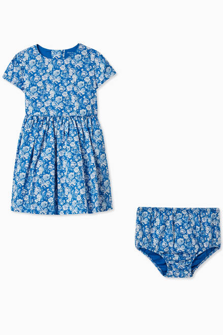 hover state of Floral Cotton Dress & Bloomers