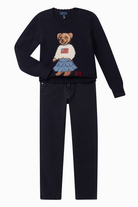 hover state of Polo Bear Cotton Sweater