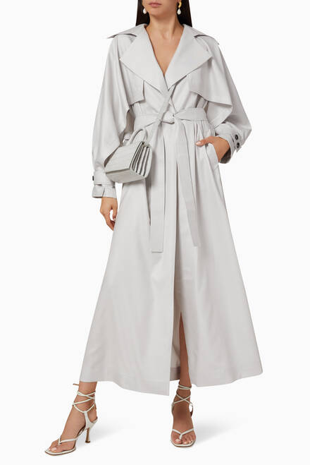 hover state of Hania Light Belted Trench Coat