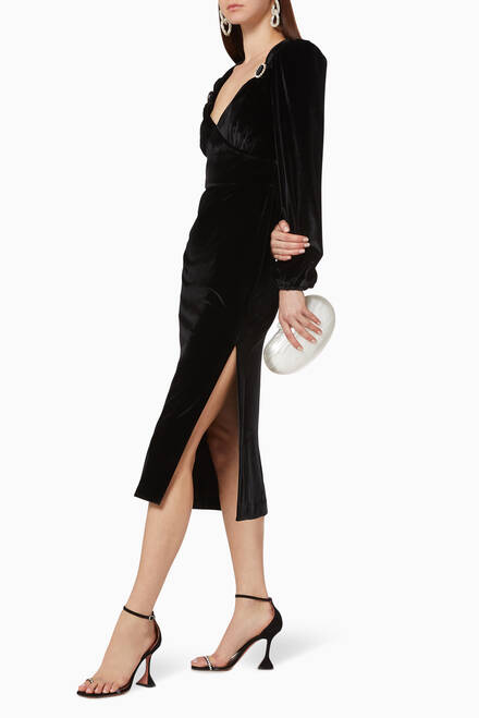 hover state of Velluto Velvet Midi Dress