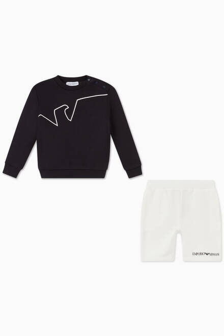 hover state of EA Eagle Jersey Sweatshirt & Shorts Set