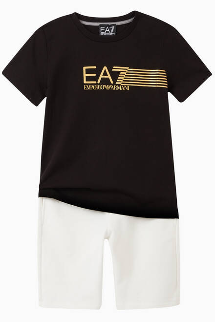 hover state of EA7 Striped Jersey T-Shirt
